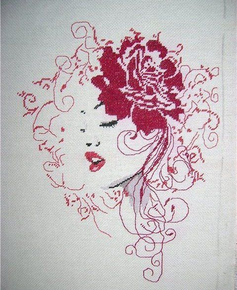 .Mujer en rojo