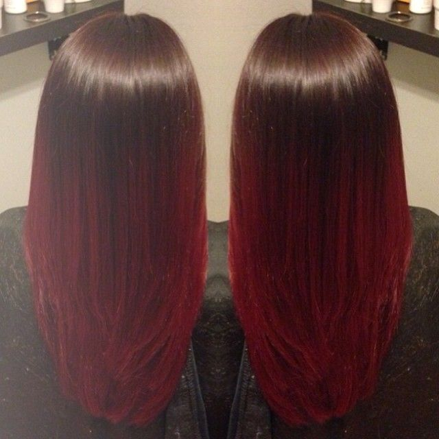 Red Ombre I loveeeeee this if red didn't fade so fast