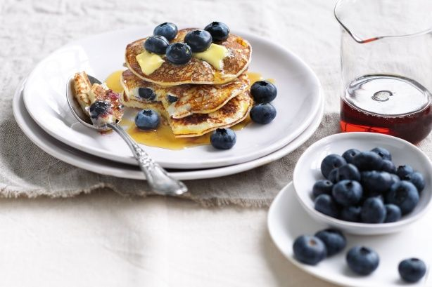 Blueberry buttermilk pancakes main image