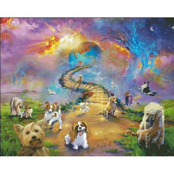 All Dogs Go To Heaven Two Cross Paintings Painting Diamond Painting