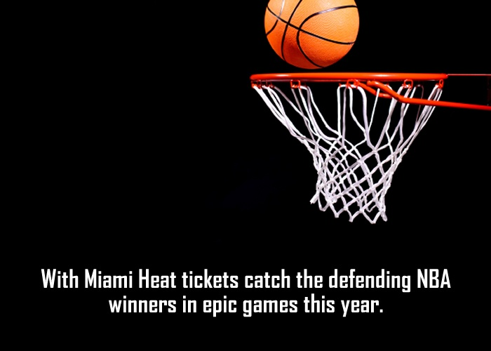 The Miami Heat Basketball team is an excellent blend of old players with fresh talent. A team which comes up to expectations of its million of fans that follow Basketball keenly. With passage of time, the team has improved tremendously and now it has a strong placement in NBA Circuit. Get hold of cheap Miami Heat tickets online and watch the exclusive games at Sports arena.  www.ticketluck.com