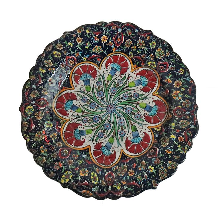 Decorative Plate - Red Zaatar  sc 1 st  Pinterest : red decorative plates - pezcame.com