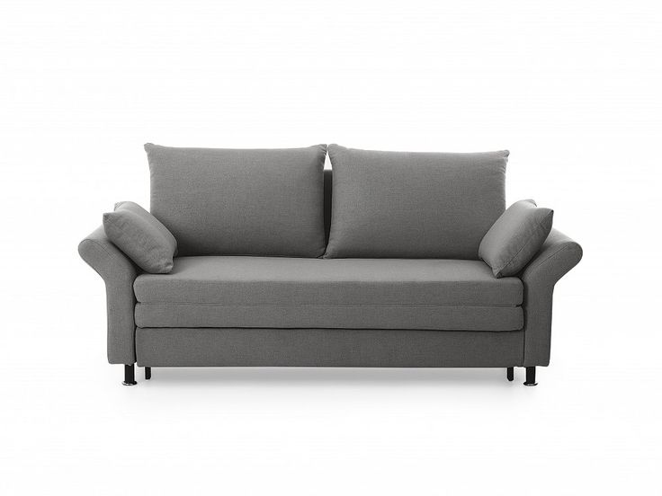 In a Scandinavian style - a multifunctional reclining sofa bed EXETER in a grey colour with comfortable cushions. Check Beliani UK for more design inspirations www.beliani.co.uk! #beliani #moderninteriorsdesign #sofabeds #sofa #bedroom #livingroomideas #couch #sofabed