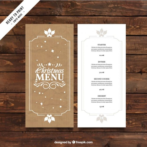 six bells st albans christmas menu templates