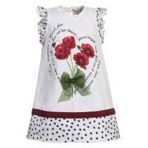 Φόρεμα Παπαρούνα Πουά Monnalisa