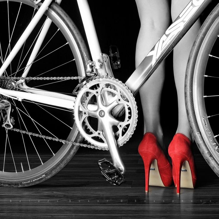 High heels and bicycle