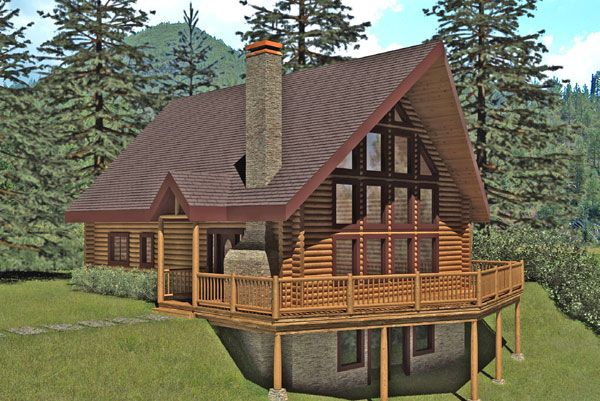 St joes ii log home favorite places spaces for Square log cabin kits