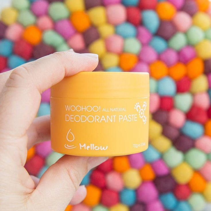 Yellow Mellow repping the bicarb soda free property! Substituted with Magnesium Hydroxide Activated Charcoal and Olive Leaf Extract he makes a huge impact on your armpitsBy neutralising absorbing and preventing the stench Mellow may be the colour you needed
