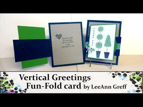 Vertical Greetings Fun Fold Card - YouTube