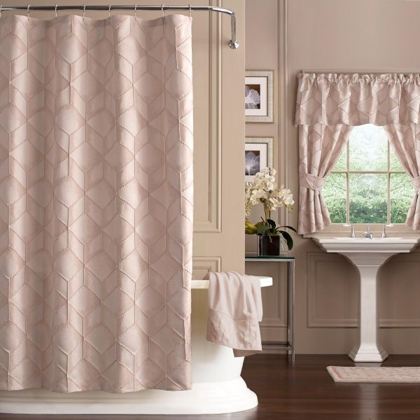 This Intricately Woven Jacquard Shower Curtain Comes In An A