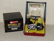 GARCIA MITCHELL 409 LEFT HANDED SPINNING FISHING REEL -NEW IN BOX-