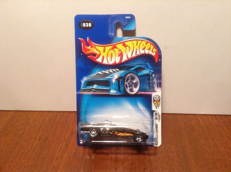 Hot Wheels F-Racer #30 2004 First Editions #30 of 100 Black & Chrome #HotWheels