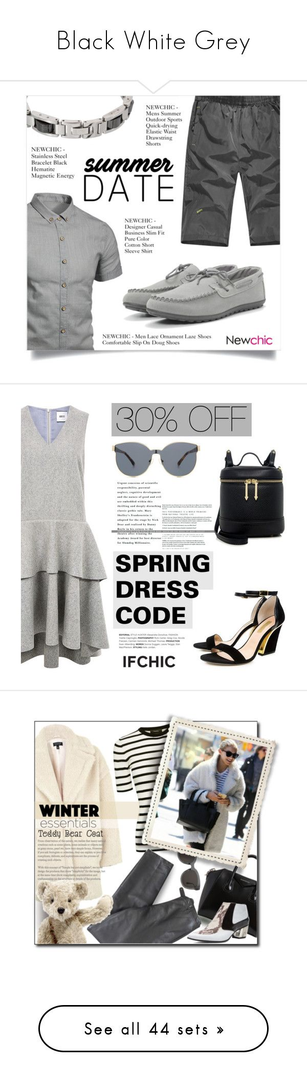 """""""Black White Grey"""" by my-names-michi ❤ liked on Polyvore featuring men's fashion, menswear, Edit, Dee Keller, Karen Walker, contemporary, Givenchy, Topshop, Theory and Lafayette 148 New York"""