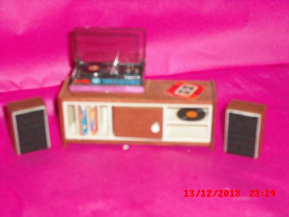 Lundby Stereo Set with Speakers by VintageLundbyLove on Etsy, £22.00