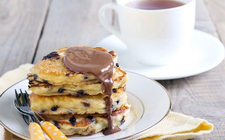 çikolatalı pancake tarifi
