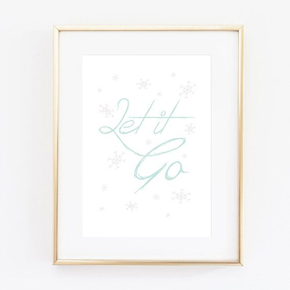 Frozen poster Let it go by Black & Boo Design on Etsy.   Typography Print, Frozen Print, Elsa and Anna Illustration, Frozen Girl Gift, Wall Decor, Disney, Snowflake Pattern