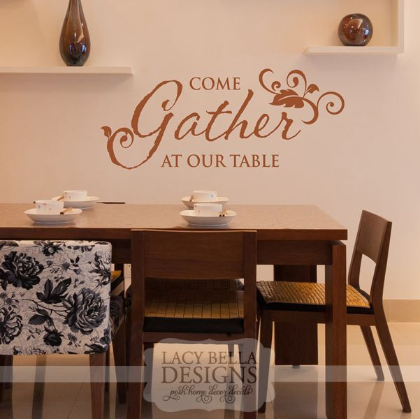 Come Gather At Our Table Kitchen Vinyl Lettering Home Decor Decal Wall Sticker