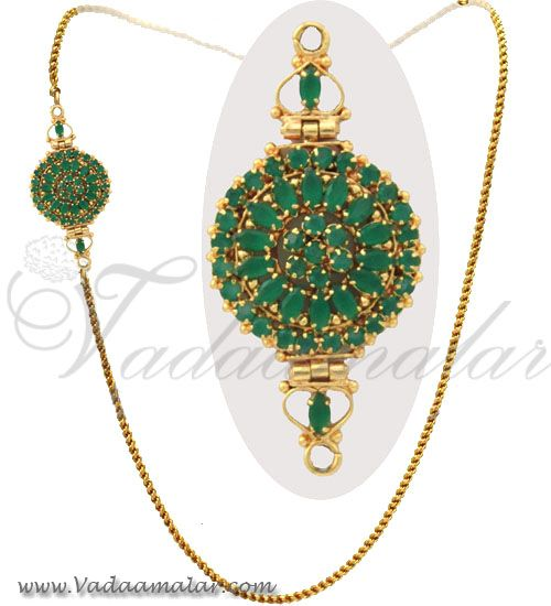 57 best mugappu side pendants images on pinterest duke peacock emerald side pendant with gold plated chain httpvadaamalar mozeypictures Gallery