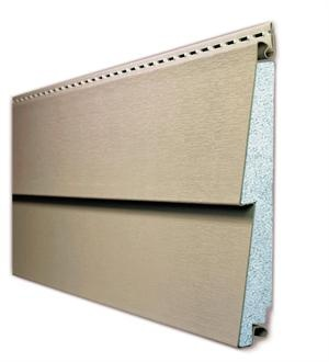 Alside's Prodigy insulated vinyl siding features high-density EPS foam insulation measuring 1.5 inches thick for improved thermal performance. As a result, the product offers R-values up to 3.5, as well as increased sound deadening properties. It comes in three profiles and 21 colors. Alside. 800-922-6009. www.alside.com.