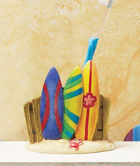 Surfboard Toothbrush Holder At The Beach Sun & Fun Bathrrom Decor