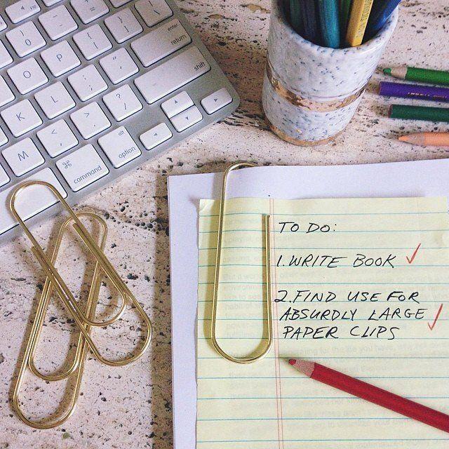 Gold Mega #Paper #Clip. Paper ClipOffice SuppliesWonderful ...