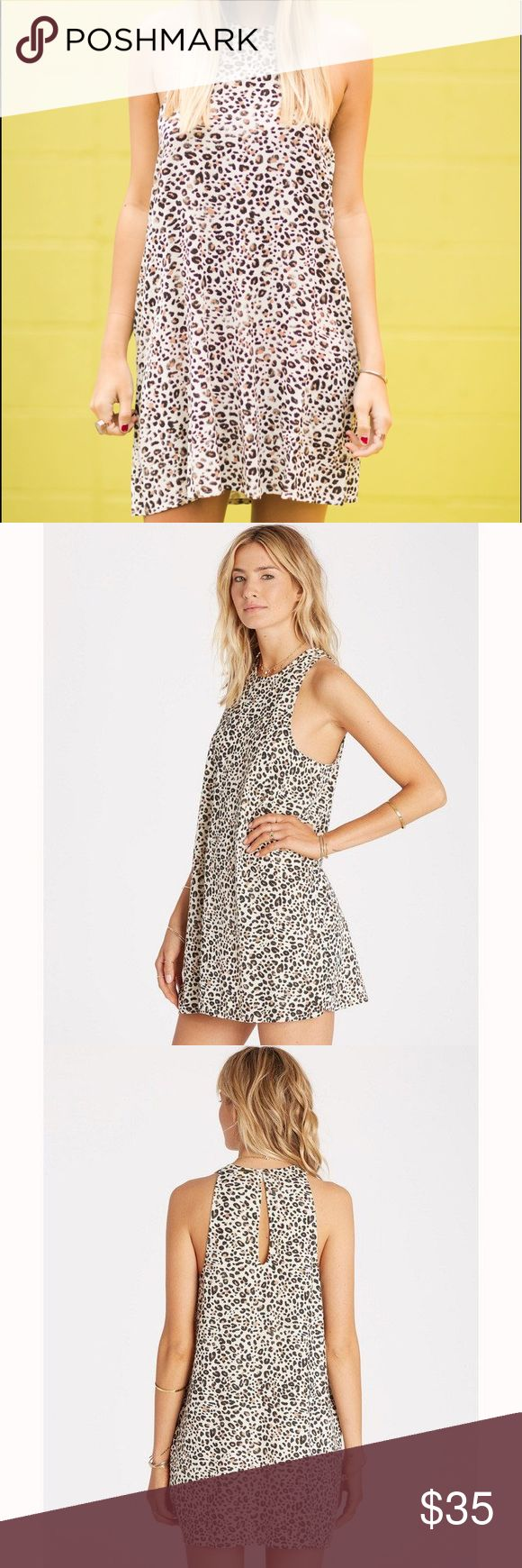 "• cheetah print dress • * High neck swing dress. * Keyhole at back. * Allover print. * Pattern: animal or bohemian print. * Material: 100% rayon. * Chest: 32"". * Waist: 25"". * Hips: 35"". Billabong Dresses Mini"