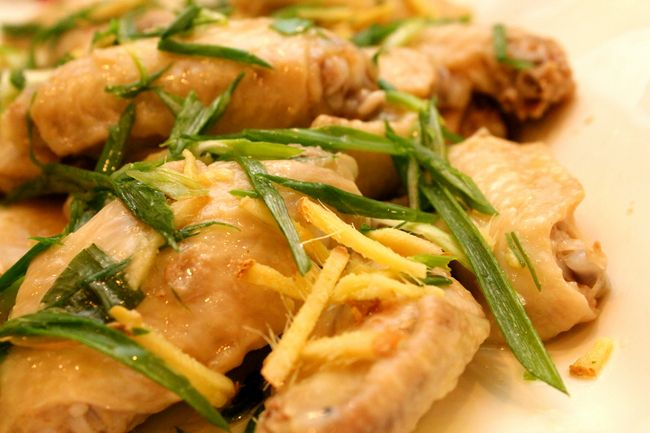 Chinese Steamed Chicken with Ginger and Green Onion