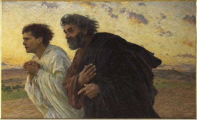 Dropbox - Peter and John Running to the Tomb Eugène Burnand 1850-1921 Source Art and the Bible.jpg