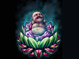 laughing buddha on lotus flower tattoo - Google Search