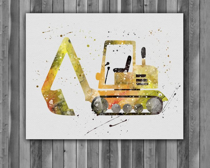 Prints & Posters – Trucks transportation children room Nursery poster – a unique product by Irene913 on DaWanda