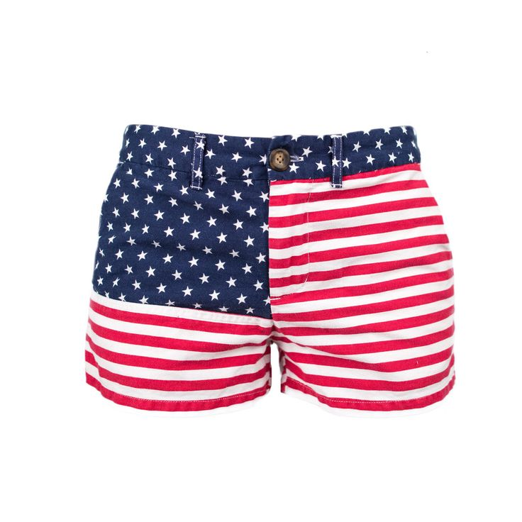 Miss 'Mericas | Chubbies Women's American Flag Shorts