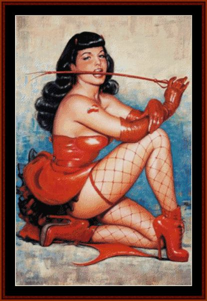 Bettie Page - Vintage Poster cross stitch pattern by Cross Stitch Collectibles