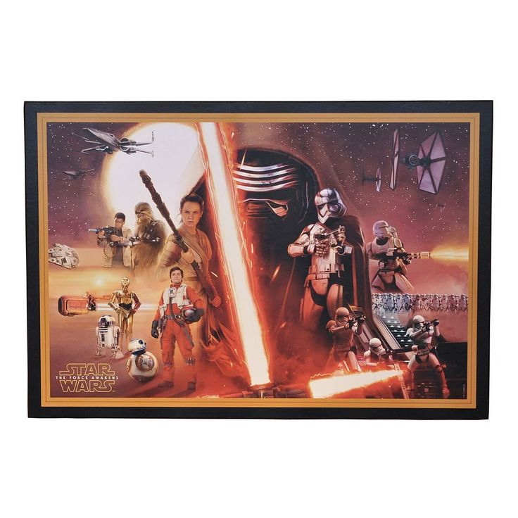 Star Wars: Episode VII The Force Awakens Wall Art, Multicolor