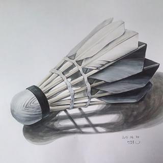셔!틀!콕! . . . #기초디자인 #개체 #묘사 #art #드로잉스타그램 #셔틀콕 #개체묘사 #design #그림쟁이