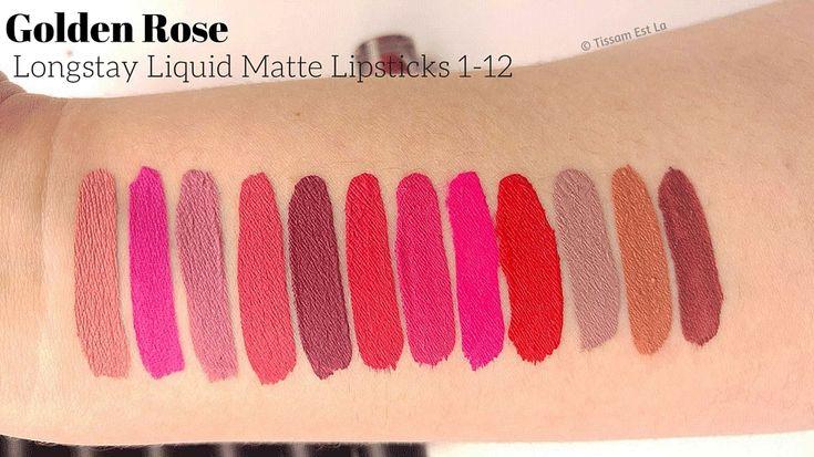 golden rose lipstick matte palette - Google Search