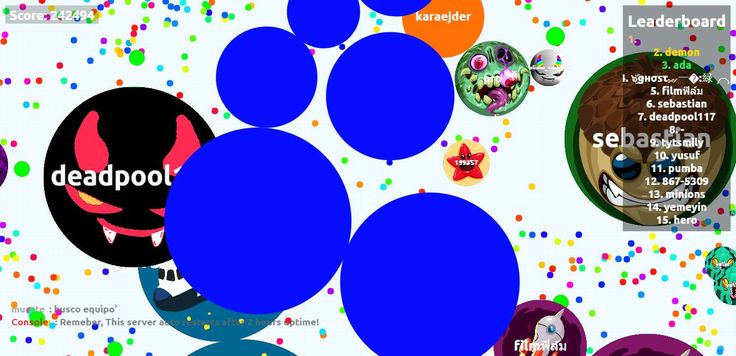 nickname agario pvp server score agarabi.com nickname  - Player:  / Score: 2753600 -  saved mass 275360 score nick name  agario private game server fast agario game play