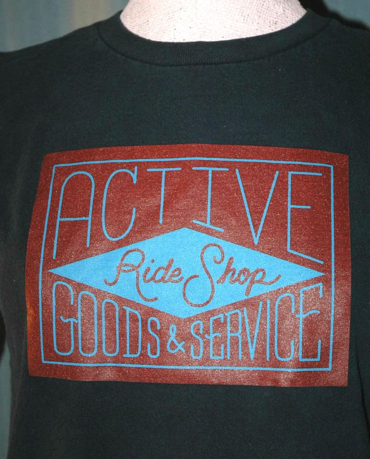 Active Ride Shop Youth Large / Adult Small Blue T-Shirt (S L Surf Skateboard) #RivalMadness