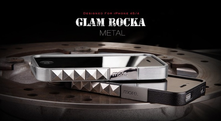It Rocks!!!  Glam Rocka Metal Jelly Ring for iPhone 4S - designed by more-thing.com decorated with metal studs.  ROCK!!! ROCK!!! ROCK!!!