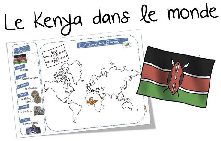 Le Kenya dans le monde: carte - Bout de gomme