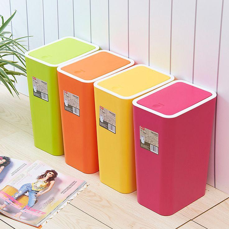 Paille de couleur de sucrerie rectangle ordures seau mode ceinture en plastique de stockage de seau dans Poubelles de Maison & Jardin sur AliExpress.com | Alibaba Group