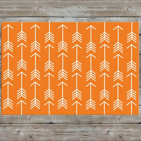 Arrow Rug, Nursery Rug, Woodland Rug, Orange Rug, Modern, Kids Room by mallorylynndecor on Etsy https://www.etsy.com/listing/237886087/arrow-rug-nursery-rug-woodland-rug