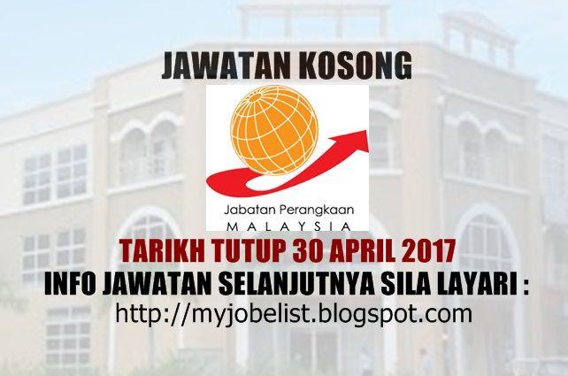 Jawatan Kosong Jabatan Perangkaan Malaysia (PO Kajang) - 30 April 2017  Jawatan kosong kerajaan terkini di Jabatan Perangkaan Malaysia (PO Kajang) April 2016. Permohonan adalah dipelawa daripada warganegara Malaysia yang berkelayakan untuk mengisi kekosongan jawatan kosong terkini di Jabatan Perangkaan Malaysia (PO Kajang) sebagai :1. PEMBANTU PERANGKAAN E17Tarikh tutup permohonan 30 April 2017 Lokasi : Selangor Sektor : Kerajaan  Cara Memohon Permohonan hendaklah dibuat menerusi laman…