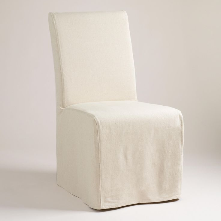 Linen Long Anna Chair Slipcover
