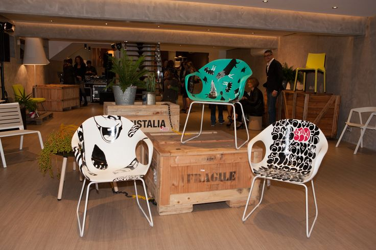 3 URBAN ARTISTS LET LOOSE ON 3 ICONIC KRISTALIA DESIGNS Jumbo, Numskull & Roach at Fanuli Furniture #Jumbo #Numskull #Roach  @Fanuli Hall Hall Furniture