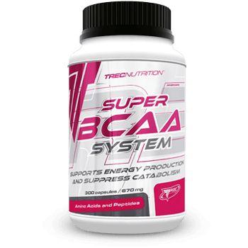 SUPER BCAA SYSTEM: Aminokwasy rozgałęzione + tauryna + wit. B6 w formie kapletek   Więcej energii do ćwiczeń Zatrzymuje rozpad protein mięśniowych Innowacyjna forma szybkodziałających kapletek