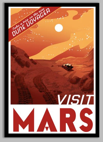 Mars Space Poster! Visit Mars! All posters are printed on 65 lb polar  white matte photo paper, 100-year archival.