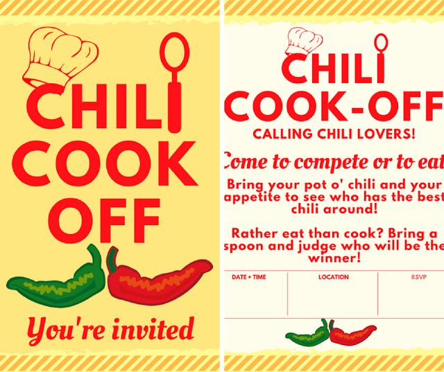 Host A Chili Cook Off! Check Out These