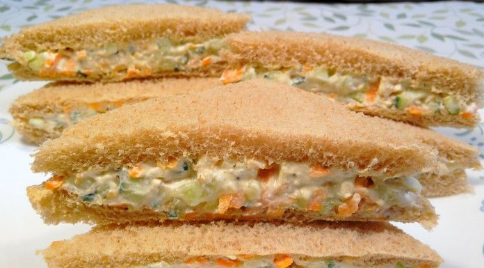 Cream Cheese Cucumber & Carrot Sandwich