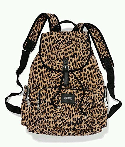 Victoria's Secret PINK Backpack Leopard Cheetah Canvas School Handbag Book Bag Tote ge twice for more info - See a larger selection of school backpacks at http://kidsbackpackstore.com/product-category/school-backpacks/ - kids, kids backpack, school backpack, everyday backpack, school bag, gift ideas, teens backpacks.