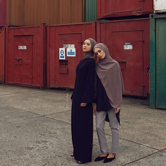 INAYAH | Raise your workwear style credentials with our modernised classic shirt featuring subtle back detail.   Black Cotton Tie Back Shirt  Dove Grey Straight Leg Trousers  Dusty Ash Soft Crepe Hijab  -  Black Belted Kimono Dress  Pebble Soft Crepe Hijab  www.inayah.co